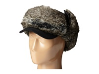 San Diego Hat Company Sdh2065 Faux Fur Trapper With Faux Fur Trim Black Caps