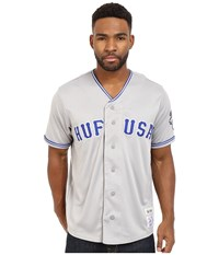 Huf Territory Baseball Jersey Grey Men's Clothing Gray