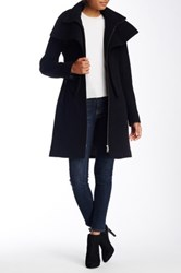 Soia And Kyo Oversized Collar Wool Blend Coat Black