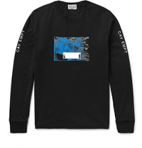 Cav Empt Embellished Cotton Jersey T Shirt Black