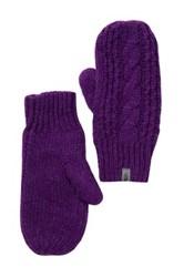 The North Face Cable Knit Mittens Purple