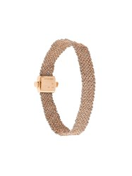 Carolina Bucci 18Kt Rose Gold 'Woven' Bracelet Grey