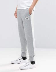 Converse Rib Cuff Patch Joggers In Grey 10002135 A01 Grey