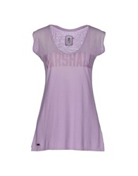 Franklin And Marshall Topwear T Shirts Women Lilac