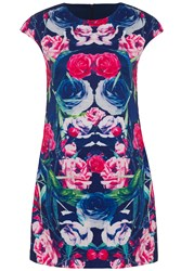 Wolf And Whistle Bird Placement Shift Dress Multi Coloured