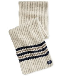 Nautica Men's Striped Knit Scarf Sandy Heather Multi