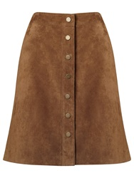 Phase Eight Tamsin Suede A Line Skirt Camel