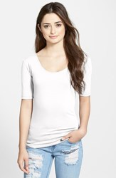 Women's Lotus Effect Reversible Elbow Sleeve Tee White