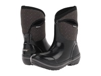 Bogs Herringbone Mid Black Grey Women's Waterproof Boots