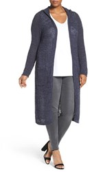 Addition Elle Love And Legend Plus Size Women's Hooded Long Open Front Cardigan