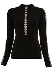 Peter Pilotto Geometric Trim Knitted Top Black