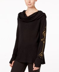 Gaiam Emergy Cowl Neck Top Black
