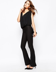 French Connection Glass Stretch Kick Flare Trousers Black