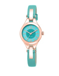 Nine West Turquoise Strap And Blush Hardware Watch Blue