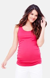Women's Ingrid And Isabel Scoop Neck Maternity Tank Berry