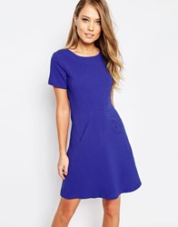 Closet Cap Sleeve Shift Dress With Pockets Cobalt Blue
