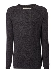 Anerkjendt Levent Raglan Crew Neck Jumper Grey