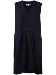 Carven Tulle Inset Dress Blue