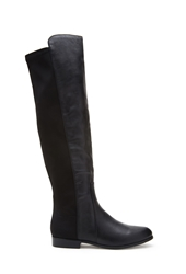 Forever 21 Faux Leather Over The Knee Boots Black