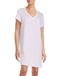 Karen Neuburger Printed Cotton Blend Sleepshirt Ditsy Pink