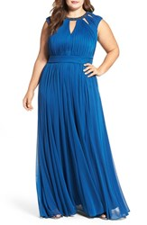 Adrianna Papell Plus Size Women's Pleated Gown