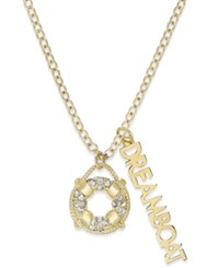 Kate Spade New York Gold Tone Nautical Theme Charm Pendant Necklace