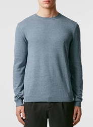 Topman Blue Twist Essential Crew Neck Jumper
