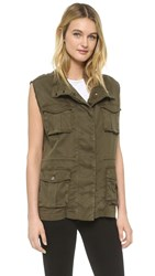 The Kooples Military Jacket Vest Army