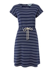 Dickins And Jones Cross Over Back Tennis Dress Navy And White