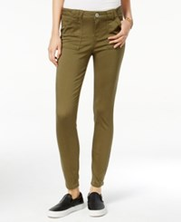 Vanilla Star Juniors' Porkchop Pocket Colored Skinny Jeans Olive