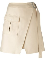 C Meo Safari Pocket Wrap Skirt Nude And Neutrals