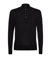 Tom Ford Wool Polo Sweater Male Black