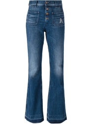 Aries 'Jane' Bootcut Jeans Blue