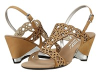 Onex Lacy Tan Leather High Heels
