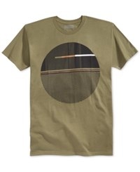 Sean John Oblique Graphic Print T Shirt Grapeleaf