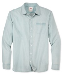 Levi's Men's Greg Denim Long Sleeve Shirt New Age Blue