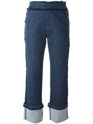 See By Chloe Frayed Straight Jeans Blue