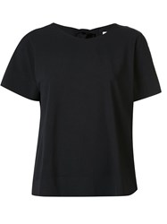 Cinq A Sept Tie Back T Shirt Black