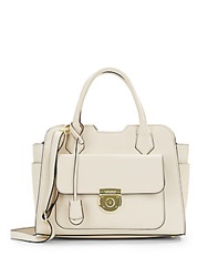 London Fog Crocodile Embossed And Matte Faux Leather Satchel Shell