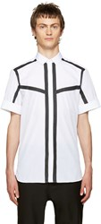 Neil Barrett White And Black Poplin Striped Shirt