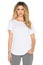 Current Elliott The Rolled Sleeve Tee White