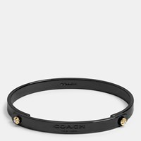 Daisy Rivet Coach Tension Bangle Black