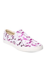 Bucketfeet Flamingos Slip On Sneakers Pink