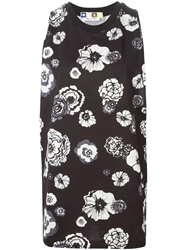 Msgm Oversized Floral Print Tank Top