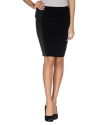 Alberto Biani Knee Length Skirts Black