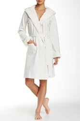 Bedhead Plush Lined Hooded Robe White