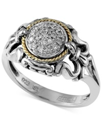 Effy Collection Balissima By Effy Diamond Accent Scrolled Ring In Sterling Silver And 18K Gold
