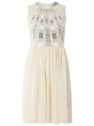 Dorothy Perkins Sequin Prom Dress Silver