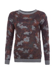 Garcia Camouflage Print Jumper Multi Coloured Multi Coloured