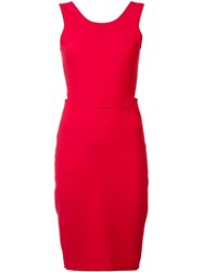 Elizabeth And James Back Cutout Dress Red